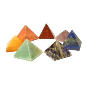 Chakra sett - Pyramide